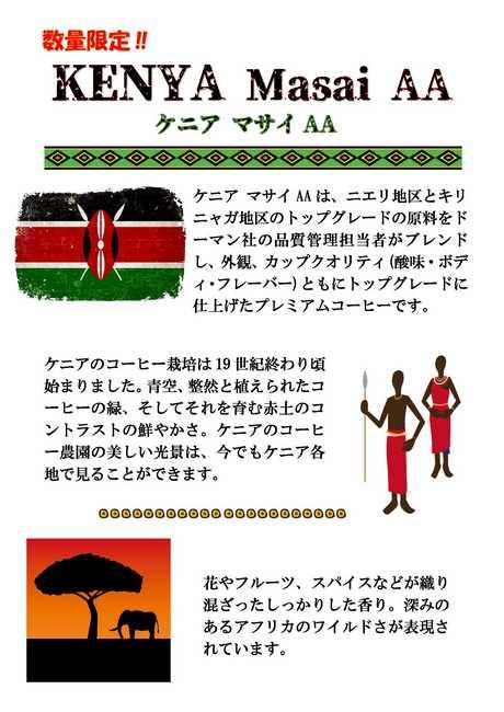 ケニア マサイ AA 100g